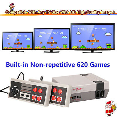 Min Classic Edition Game Console 620 Games Entertainment Built-in 2 Controllers