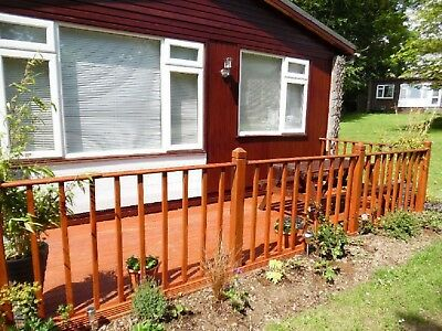 holidays in Cornwall Devon.chalet 2 bedrooms sleeps 5 allows dogs set in grounds