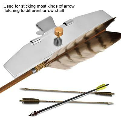 Aluminum Archery Fletching Jig Arrow Feather DIY Shooting Tool Straight Clamp ZH