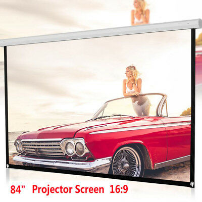 84inch Projector Screen 16:9 Home Cinema Theater Projection Portable Screen