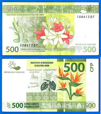 500 Francs ND New UNC /> Flowers 2014 Sig French Pacific Territories P-5