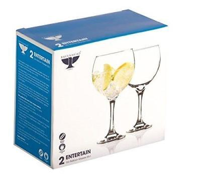 Ravenhead Entertain Set of 2 55 Cl Gin balloon Glasses, Clear