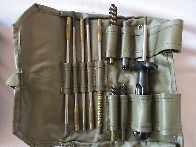 Swiss army surplus rifle cleaning field maintenance roll up kit used SIG