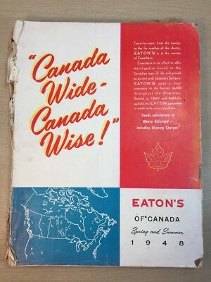 Eaton's Catalogue 1948 Moncton Canada Spring Summer Colour Graphic Design