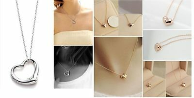 8 x Pieces Of Gold & Silver Heart Necklaces Wholesale Joblot Ladies Jewellery