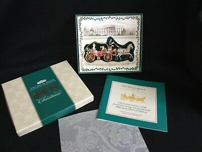 2001 Historical Association White House Christmas Ornament Horse and Carriage