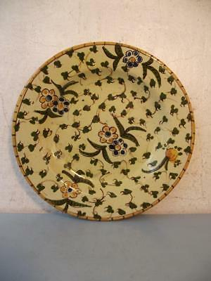 Antique Italian Cantagali Side Plate Faience Pottery Hand Painted  Italy