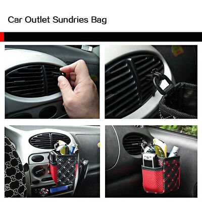 Car Holder Leather Storage Pocket Sundries Supplies Bag Durable Large capacity
