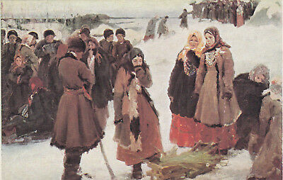 Art card, Russia, P.D. Schmaroff, The country in Winter. 1900-10s