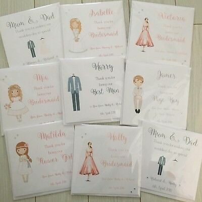 Personalised Thank you for being my Bridesmaid Flower Girl Best Man Wedding Card