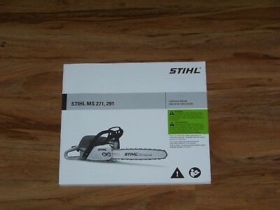 Instruction owners manual for stihl ms201t chainsaw ----- box.
