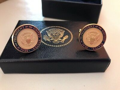 The Authentic President George W. Bush - 43 - Gloss Back Presidential Cufflinks