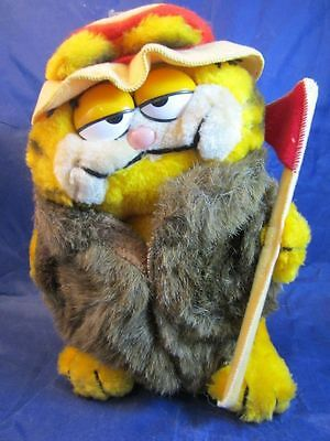 Vintage Garfield Plush Stuffed Animal Big Cat On Campus Bcoc Vintage