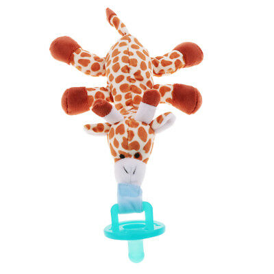 Boy Girl Baby Dummy Pacifier Clip Plush Giraffe Toy Soother Nipple Holder
