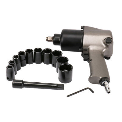 """14Pcs 1/2"""" Square Drive Air Impact Wrench Sockets Set Pneumatic Tool 8000RPM New"""
