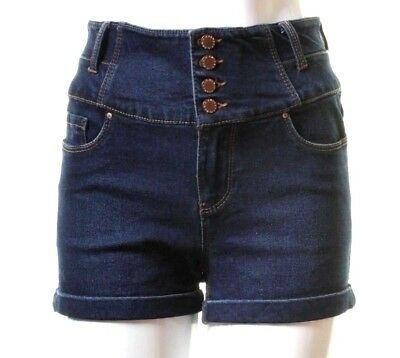 Ex New Look Womens High Waisted Jean Casual Shorts Ladies Hotpants 6-18