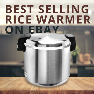Pantin 100Cup(50Cup Raw) Commercial Electric Stainless Steel Rice Warmer NSF ETL