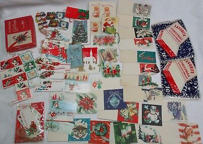 Vintage Lot Christmas Gift Tags Cards Seals More RARE Older Types All Unused