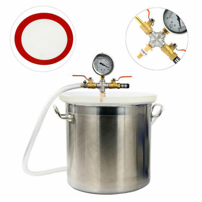 5 Gallon Vacuum Chamber Degass Urethanes Silicone Epoxies Stainless Steel