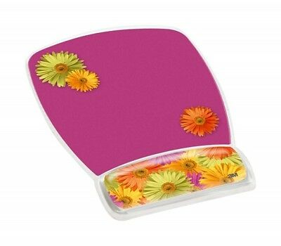 """3M MW308DS Gel Mouse Pad - 9.2"""" x 6.8"""" Dimension CLEAR DAISY DESIGN"""