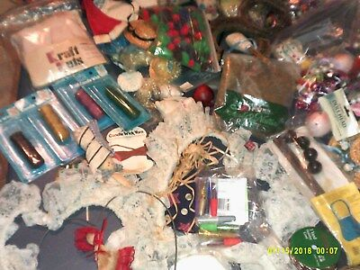 Large Lot Of Craft Items Beads Lace More