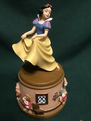 Disney Snow White and the Seven Dwarfs Revolving Music Box Figurine