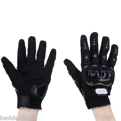 Paired Full Finger Motorcycle Gloves Moto Racing Gears Breathable Mesh Fabric