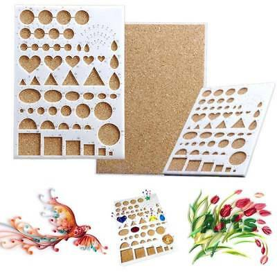 DIY Crafts Paper Quilling Template Mould Board Papercraft Crimper Scrapbooking