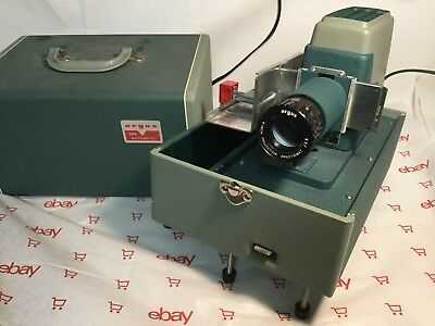 Vintage Argus 300 Automatic Slide Projector In Carrying Case
