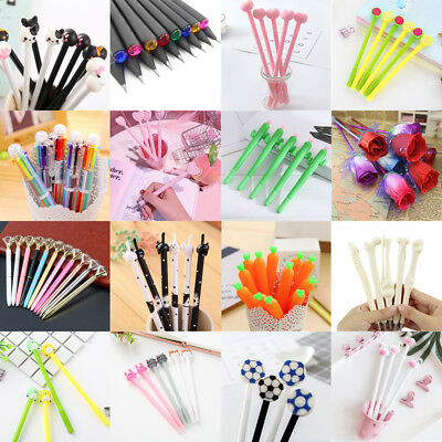 Lots Gel Pen Ballpoint Stationery Writing Children Student School Office Supply