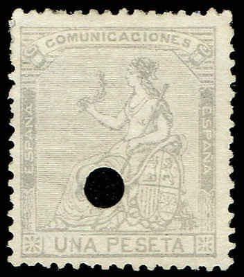 Scott # 198 - 1873 - ' Seated Espana ' - Punch Cancel