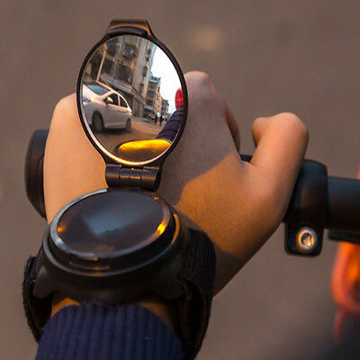 Bicycle Back Mirror Arm Wrist Strap Rear View Rearview Cycling Bike Safe Mirrors