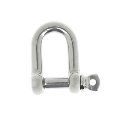 Stainless Steel D Shackle Sling Lifting Chain Rope Connector M8,8mm