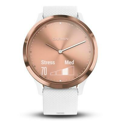 Garmin vivomove HR - Sport - Rose Gold / White - S/M | Brand New Aust. Stock