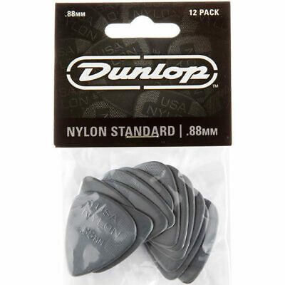 "12x Jim Dunlop Nylon ""Greys"" .88MM Gauge Guitar Picks Plectrums"