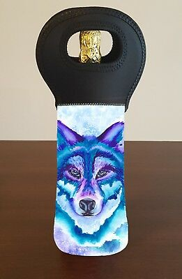 Wolf Wine Bottle Cooler Carry Bag