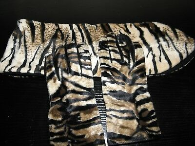 Dennis Basso Animal Print Gloves and Scarf