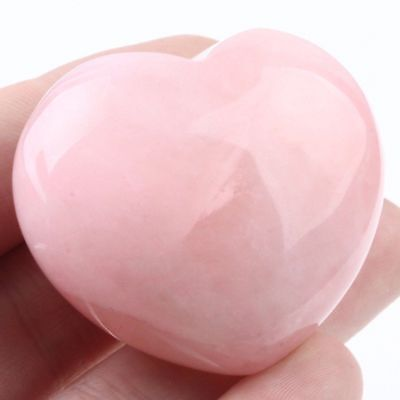 Natural Pink Rose Quartz Crystal Polished Love Heart Healing Stones Jewelry DIY