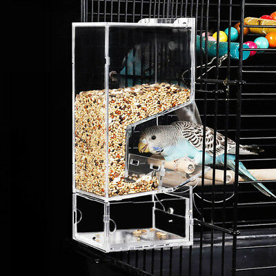 No-Mess Bird Feeder Parrot Feeder For Cage Automatic Food Station Feeding Device
