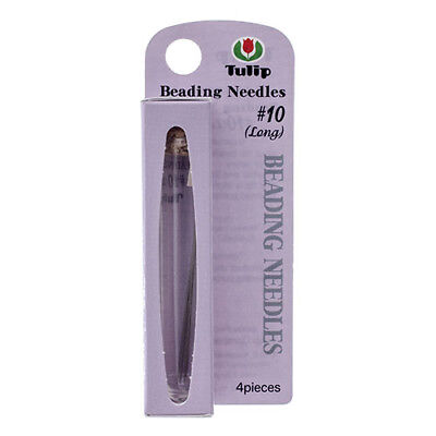 Tulip Beading Needles Size 10 Long - 4 needles packed in neat storage vial