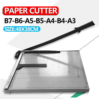 Size L A3 To B7 Paper Photo Cutter Guillotine Trimmer Knife Metal Base Portable