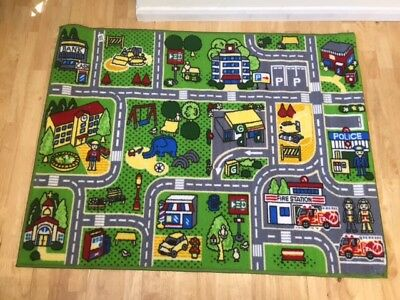 CHILDRENS STREET MAP SCENE PLAY FLOOR mat rug