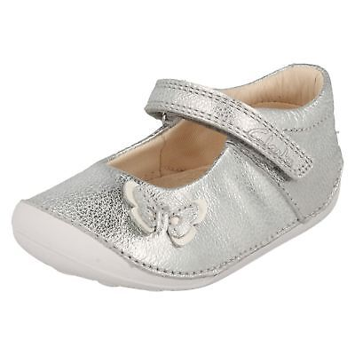 Infant Girls Clarks Leather Hook & Loop Fastening First Cruiser Shoes Little Mia