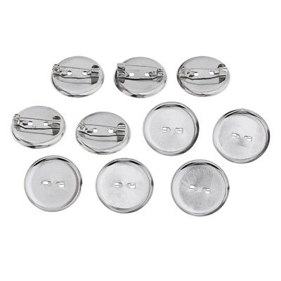23MM Metal Brooch Base Pin-Back Button Parts Badge Button Pins 10 Pieces