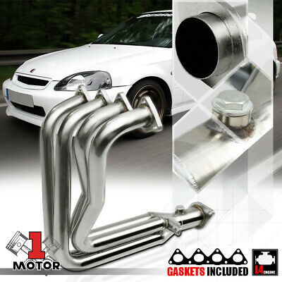 Stainless Steel 4-1 Exhaust Header Manifold for 99-00 Civic Si/Del Sol B16A2 B16