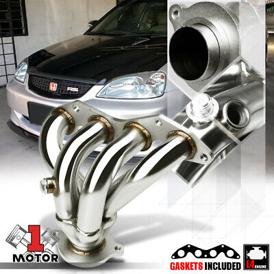 Stainless Steel 4-1 Exhaust Header Manifold for 01-05 Honda Civic EX D17A 4Cyl