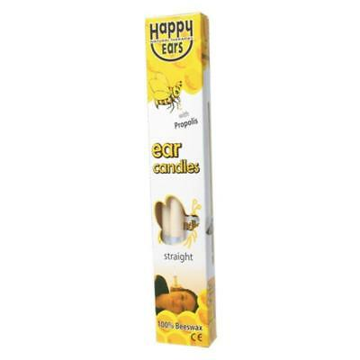 Happy Ears Ear Candles Candle Coning 100% Beeswax Straight 2 Two Pack 1 Pair