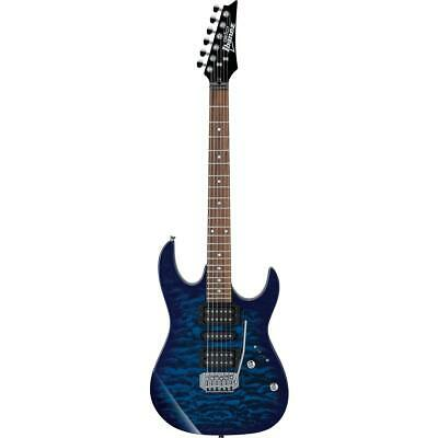 Ibanez GIO Series GRX70QA Electric Guitar, Transparent Blue Burst #GRX70QATBB