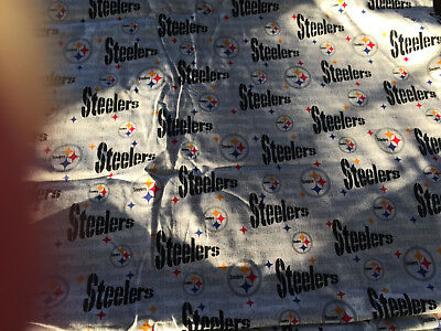 100 % Cotton Pittsburgh Steelers Football Logo Jersey By The Yard Quilt Fabric