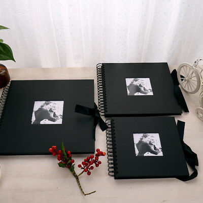 40 Pages Black Photo Album Memo Book Paste DIY Scrapbook DIY Scrapbooking Gifts